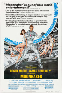 """Moonraker (United Artists, 1979). One Sheet (27"""" X 41"""") Review Style. James Bond"""