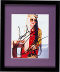 Music Memorabilia:Autographs and Signed Items, Lady Gaga Signed Color Photo....