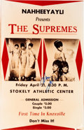 Music Memorabilia:Memorabilia, Supremes Knoxville Tennessee Limited Re-Issued Concert Poster Signed by Mary Wilson (1966)....