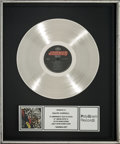 Music Memorabilia:Awards, Kiss Animalize In-House Platinum Record Sales Award (Mercury422-822-495-1, 1984). ...