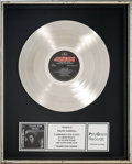 Music Memorabilia:Awards, Tears For Fears Songs from the Big Chair In-House PlatinumRecord Sales Award (Mercury 422-824-300-1, 1985). ...
