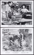 "Movie Posters:Science Fiction, Russell Johnson in It Came from Outer Space & Other Lot(1970s). Autographed Restrike Photos (2) (8"" X 10""). ScienceFiction... (Total: 2 Items)"