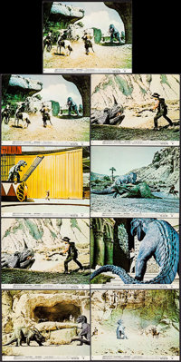"""The Valley of Gwangi (Warner Brothers, 1969). Mini Lobby Cards (9) & Photos (9) (approx. 8"""" X 10""""). Sc..."""