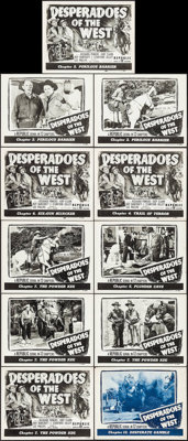 """Desperadoes of the West (Republic, 1950). Title Lobby Cards (4) & Lobby Cards (7) (11"""" X 14"""") Various..."""