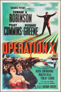 "Movie Posters:Drama, Operation X (Columbia, 1950). One Sheet (27"" X 41""). Drama.. ..."