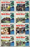 "Movie Posters:Adventure, Rob Roy, the Highland Rogue (RKO, 1954). Lobby Card Set of 8 (11"" X14""). Adventure.. ... (Total: 8 Items)"