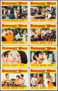 "Movie Posters:Adventure, Elephant Walk (Paramount, 1954/R-1960). Lobby Card Set of 8 &Lobby Cards (7) (11"" X 14""). Adventure.. ... (Total: 15 Items)"