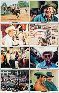 "Movie Posters:Western, Junior Bonner (Cinerama Releasing, 1972). Lobby Card Set of 8 (11""X 14""), Program (3 Pages, 10"" X 12"") & Pressbook (11 Page...(Total: 3 Items)"