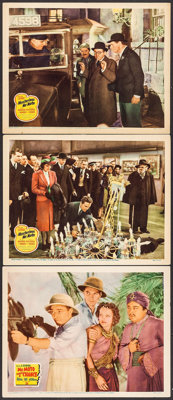 """Mr. Moto Takes a Chance & Other Lot (20th Century Fox, 1938). Lobby Cards (3) (11"""" X 14""""). Mystery..."""