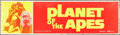 "Movie Posters:Science Fiction, Planet of the Apes (20th Century Fox, 1968). Silk-Screen Banner(24"" X 82""). Science Fiction.. ..."