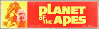 "Planet of the Apes (20th Century Fox, 1968). Silk-Screen Banner (24"" X 82""). Science Fiction"