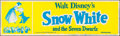 """Movie Posters:Animation, Snow White and the Seven Dwarfs (Buena Vista, R-1967). Banner (24""""X 82""""). Animation.. ..."""