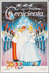 """Cinderella & Other Lot (Buena Vista, R-1987). Argentinean Posters (2) (29"""" X 43""""). Animation. ... (Tot..."""