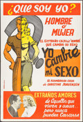 "Movie Posters:Exploitation, Glen or Glenda (Screen Classics Inc., 1961). Argentinean Poster(29"" X 43""). Exploitation.. ..."