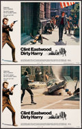 "Movie Posters:Crime, Dirty Harry (Warner Brothers, 1971). Lobby Cards (2) (11"" X 14"").Crime.. ... (Total: 2 Items)"