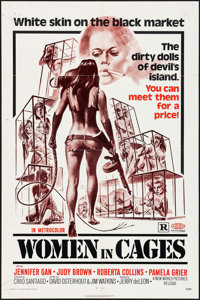 """Women in Cages & Others Lot (New World, 1971). One Sheets (4) (27"""" X 41""""). Sexploitation. ... (Total:..."""