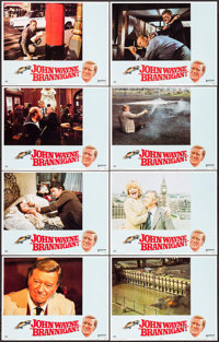 """Brannigan (United Artists, 1975). Lobby Card Set of 8 (11"""" X 14""""). Crime. ... (Total: 8 Items)"""