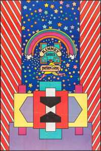 """Kinney Shoes by Peter Max (c. 1969). Poster (24"""" X 36""""). Miscellaneous"""