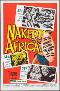 """Naked Africa & Other Lot (American International, 1957). One Sheets (2) (27"""" X 41"""") & Lobby Ca..."""
