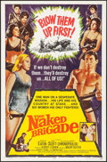 "Movie Posters:War, The Naked Brigade (Universal, 1965). One Sheet (27"" X 41"") &Lobby Cards (2) (11"" X 14""). War.. ... (Total: 3 Items)"