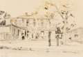 "Fine Art - Work on Paper:Drawing, Edward Muegge ""Buck"" Schiwetz (American, 1898-1984). SanLone, 1928. Pencil and watercolor on paper. 7-5/8 x 11 inches(..."