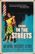 """Movie Posters:Crime, Crime in the Streets (Allied Artists, 1956). One Sheet (27"""" X 41"""")& Lobby Cards (2) (11"""" X 14""""). Crime.. ... (Total: 3 Items)"""