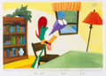 Animation Art:Production Cel, Tiny Toon Adventures Plucky Duck Production Cel (WarnerBros, c. 1990)....