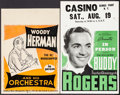 """Movie Posters:Musical, Woody Herman & Other Lot (Woodrow Music, 1940s). Concert Window Cards (2) (14"""" X 20.5"""" & 14"""" X 22""""). Musical.. ... (Total: 2 Items)"""