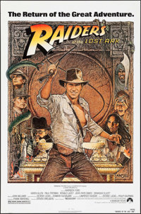 """Raiders of the Lost Ark (Paramount, R-1982). One Sheet (27"""" X 41""""). Adventure"""
