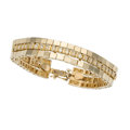Estate Jewelry:Bracelets, Diamond, Gold Bracelet. . ...