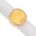 Estate Jewelry:Rings, US $5 US Liberty Coin, Gold Ring. . ...