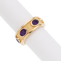 Estate Jewelry:Rings, Amethyst, Gold Eternity Band. ...