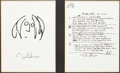 Memorabilia:Beatles, Beatles - John Lennon - In My Life Original Lyrics LimitedEdition Print #984/1000 (undated)....