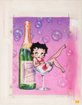 Animation Art:Production Drawing, Leslie Cabarga Betty Boop Greeting Card Illustration andReproductions Group of 3 (Paper Moon Graphics, c. 1990s)... (Total:3 Original Art)