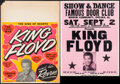 "Movie Posters:Rock and Roll, King Floyd & Other Lot (1970s). Concert Window Cards (3) (22"" X 30.5"", 22"" X 28"", & 17"" X 31""). Rock and Roll.. ... (Total: 3 Items)"