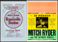 "Movie Posters:Rock and Roll, Mitch Ryder and the Detroit Wheels & Other Lot (Pat Mason,1960s). Concert Window Cards (2) (17"" X 22.5"" & 14"" X 22"").Rock ... (Total: 2 Items)"