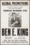 """Movie Posters:Musical, Ben E. King & Other Lot (Global Promotions, 1950s). British Concert Poster (20"""" X 30"""") & Concert Window Card (14"""" X 22""""). Mu... (Total: 2 Items)"""