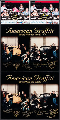 "American Graffiti & Others Lot (2000s). Autographed Color Photos (2) (Identical) (16"" X 20""), Color Ph..."