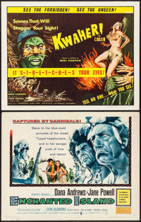 """Enchanted Island & Others Lot (Warner Brothers, 1958). Half Sheets (9) (22"""" X 28""""). Action. ... (Total..."""