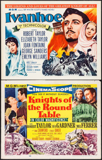 """Knights of the Round Table & Other Lot (MGM, 1953/R-1962). Half Sheets (3) (22"""" X 28""""). Adventure..."""