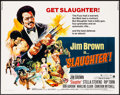 "Movie Posters:Blaxploitation, Slaughter (American International, 1972). Half Sheet (22"" X 28""). Blaxploitation.. ..."