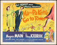"Ma and Pa Kettle Go to Town (Universal International, 1950). Half Sheet (22"" X 28"") Style B. Comedy"