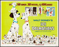 "Movie Posters:Animation, 101 Dalmatians (Buena Vista, R-1969). Half Sheet (22"" X 28""). Animation.. ..."