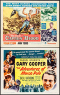 "Movie Posters:Adventure, The Adventures of Marco Polo & Others Lot (Samuel Goldwyn,R-1956). Half Sheets (6) (22"" X 28""). Adventure.. ... (Total: 6Items)"