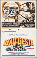 "Movie Posters:Adventure, Beau Geste & Others Lot (Universal, 1966). Half Sheets (4) (22""X 28""). Adventure.. ... (Total: 4 Items)"