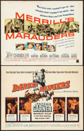 "Movie Posters:War, Darby's Rangers & Others Lot (Warner Brothers, 1958). HalfSheets (7) (22"" X 28""). War.. ... (Total: 7 Items)"