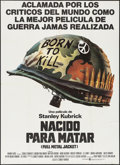 "Movie Posters:War, Full Metal Jacket (Warner Brothers, 1987). Argentinean Poster (41""X 57""). War.. ..."