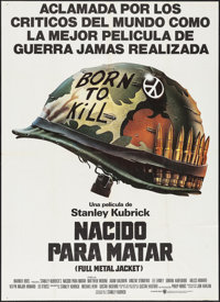 "Full Metal Jacket (Warner Brothers, 1987). Argentinean Poster (41"" X 57""). War"