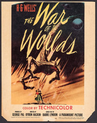 "The War of the Worlds (Paramount, 1953). Trimmed Window Card (14"" X 17.75""). Science Fiction"