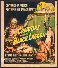 "Creature from the Black Lagoon (Universal International, 1954). Trimmed Window Card (14"" X 16.5""). Horror"